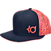 Front view of Nike KD S+ True 1 Adjustable Hat in Obsidian/White/Bright Crimson