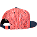 Back view of Nike KD S+ True 1 Adjustable Hat in Obsidian/White/Bright Crimson