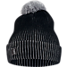 Front view of Nike Kyrie Signature Beanie in Black/Wolf Grey