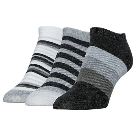 Women's Sof Sole No-Show Striped Socks - 3 Pack
