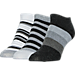 Front view of Women's Sof Sole No-Show Striped Socks - 3 Pack in Multi