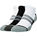 Front view of Men's Sof Sole Low Cut Tab Socks- 3-Pack in White/Black/Grey