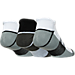 Back view of Men's Sof Sole Low Cut Tab Socks- 3-Pack in White/Black/Grey