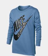Girls' Nike Sportswear Long-Sleeve Metallic T-Shirt