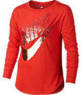 Girls' Nike Long-Sleeve Metallic Shirt