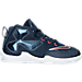 Right view of Boys' Toddler Nike LeBron 13 Basketball Shoes in Midnight Navy/Red/White