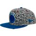 Front view of New Era Golden State Warriors NBA Kick Hooks Snapback Hat in Grey