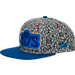 Front view of New Era Cleveland Cavaliers NBA Kick Hooks Snapback Hat in Grey