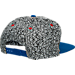 Back view of New Era Cleveland Cavaliers NBA Kick Hooks Snapback Hat in Grey
