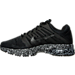Left view of Men's Nike Air Max Excellerate 4 Running Shoes in Black/White
