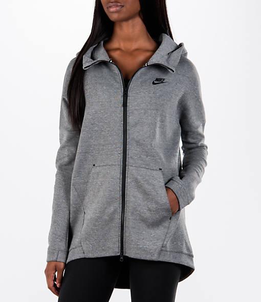 women 39 s nike sportswear tech fleece cape hoodie finish line. Black Bedroom Furniture Sets. Home Design Ideas