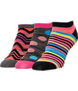 Women's Finish Line No-Show Liner 3-Pack Socks