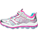 Left view of Girls' Preschool Skechers Skech-Air Stars Running Shoes in SML