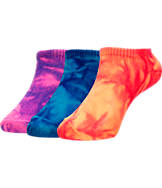 Girls' Toddler Finish Line Fashion No-Show 3-Pack Socks