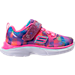 Right view of Girls' Toddler Skechers Spirit Sprintz - Rainbow Raz Casual Athletic Shoes in Multi-Color