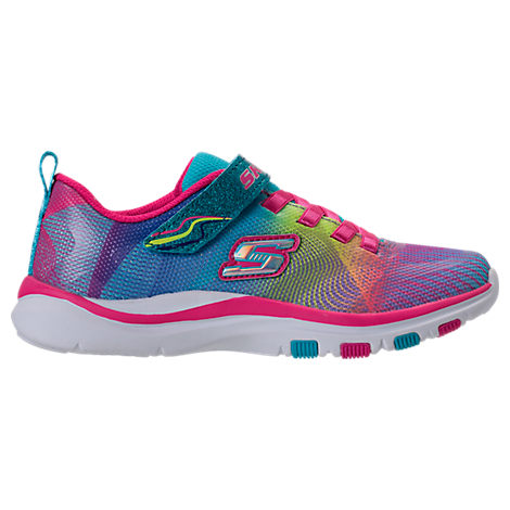 Girls' Preschool Skechers Trainer Lite - Dash N Dazzle Hook-and-Loop Running Shoes