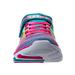 Front view of Girls' Preschool Skechers Trainer Lite - Dash N Dazzle Hook-and-Loop Running Shoes in Multi-Color