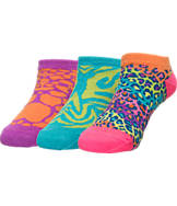 Girls' Sof Sole No-Show 3-Pack Socks