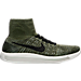 Right view of Men's Nike Flyknit LunarEpic Running Shoes in Rough Green/Black/Mica Green
