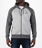 Men's Air Jordan Retro 3 Full-Zip Fleece Hoodie
