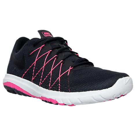 Nike Women's Flex Fury 2 Running Shoes, Black/Pink