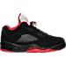 Right view of Men's Air Jordan Retro 5 Low Basketball Shoes in Black/Gym Red/Black/Metallic