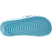 Bottom view of Girls' Grade School Nike Kawa Print Slide Sandals in White/Still Blue/Chlorine Blue
