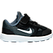 Right view of Boys' Toddler Nike Revolution 3 Running Shoes in Dark Grey/White/Black