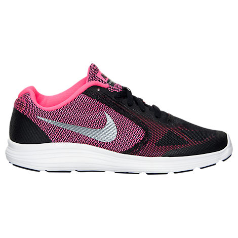 Girls' Grade School Nike Revolution 3 Running Shoes