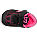 Top view of Girls' Toddler Nike Revolution 3 Running Shoes in Black/Metallic Silver/Pink