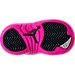 Bottom view of Girls' Toddler Air Jordan Retro 12 Basketball Shoes in Black/Deadly Pink/Metallic Silver