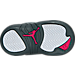 Bottom view of Girls' Toddler Jordan Retro 12 Basketball Shoes in Wolf Grey/Vivid Pink/Cool Grey