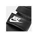 Front view of Women's Nike Benassi Duo Ultra Slide Sandals in Black/White