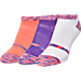 Front view of Women's Finish Line Performance 3-Pack No-Show Socks in Space Dye Orange/White