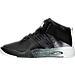 Left view of Boys' Grade School Nike LeBron Air Akronite Basketball Shoes in 001