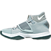 Left view of Men's Nike Zoom HyperRev 2016 Basketball Shoes in Dark Grey/White/Game Royal
