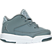 Right view of Boys' Toddler Jordan Flight Origin 3 Basketball Shoes in Cool Grey/Metallic Silver/White