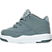 Left view of Boys' Toddler Jordan Flight Origin 3 Basketball Shoes in Cool Grey/Metallic Silver/White