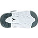 Bottom view of Boys' Toddler Jordan Flight Origin 3 Basketball Shoes in Cool Grey/Metallic Silver/White