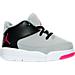 Right view of Girls' Toddler Jordan Flight Origin 3 Basketball Shoes in Wolf Grey/Vivid Pink/Black