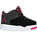 Right view of Girls' Toddler Jordan Flight Origin 3 Basketball Shoes in Black/Vivid Pink/Anthracite