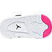 Bottom view of Girls' Toddler Jordan Flight Origin 3 Basketball Shoes in Black/Vivid Pink/Anthracite