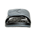 Front view of Men's Jordan Hydro 5 Retro Slide Sandals in Cool Grey/Metallic Hematite/Black