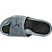 Top view of Men's Jordan Hydro 5 Retro Slide Sandals in Cool Grey/Metallic Hematite/Black