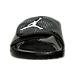 Front view of Boys' Grade School Jordan Hydro 5 Slide Sandals in Black/White/Cool Grey