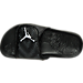 Top view of Boys' Preschool Jordan Hydro 5 Slide Sandals in Black/White/Cool Grey
