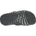 Bottom view of Boys' Grade School Jordan Hydro Retro 12 Slide Sandals in Black/Metallic Silver/Dark Grey