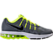 Right view of Boys' Grade School Nike Air Max Dynasty Running Shoes in Cool Grey/Black/White/Volt