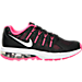 Right view of Girls' Grade School Nike Air Max Dynasty Running Shoes in Black/Metallic Silver/Hyper Pink