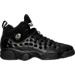 Right view of Boys' Grade School Jordan Jumpman Team II Basketball Shoes in Black/Cool Grey/White/Metallic